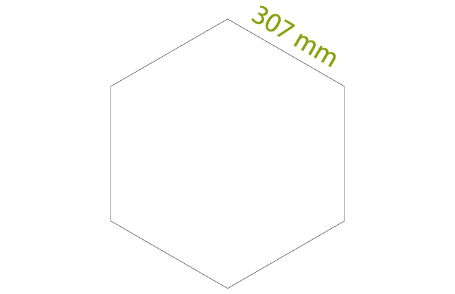 Esagono - Scatole da 4,41 mq x colore, tot = 18 pz.