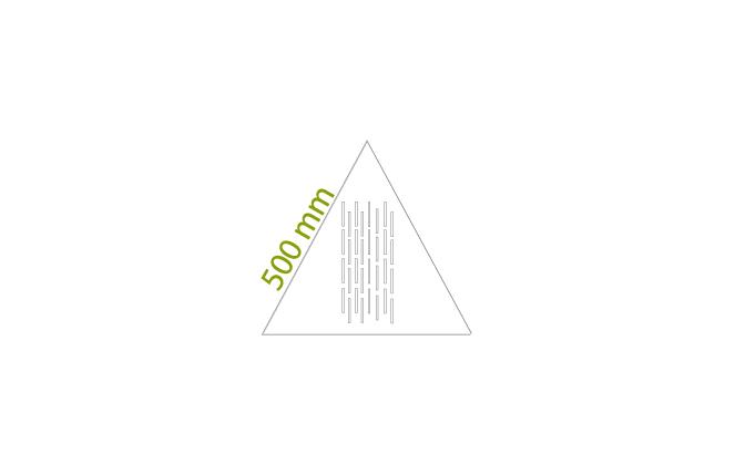 Triangoli 500 mm - Minimo: 2 box da circa 4,76 mq x colore, tot = 44 pz.